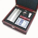 Hip Flask, Cards and Dice Set PERSONALISED ref HIPCD